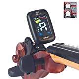 eno Professional Violin Viola Tuner, Colorful LCD Display Easy Control Clip on Accurate Violin Tuner (ET-05SV) (Tuner)