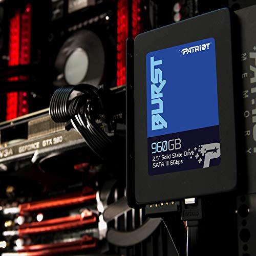 Patriot PBU960GS25SSDR Memory Burst SSD 960GB SATA III Internal Solid State Drive 2.5'' - by Patriot (Image #2)