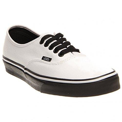 07b92dba4e3 Vans Authentic Skate Shoe - Womens (Black Sole) True White