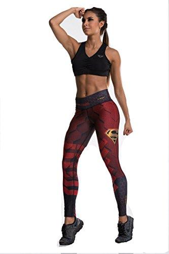 Drakon Superman Superheroes Activewear Leggings Woman Compression Pants Yoga (Female Superman Villains)
