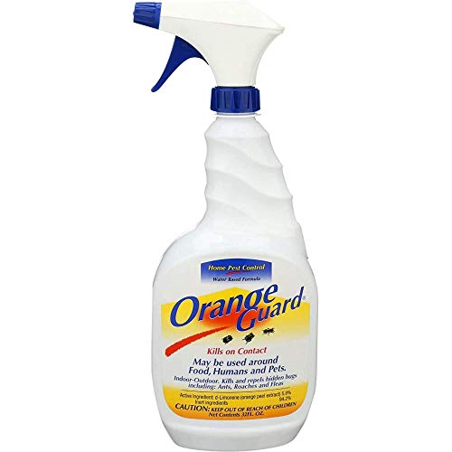 ORANGE GUARD Home Pest Control Spray - Kills and Repels Ants, Roaches, Fleas and More - Water Based Indoor/Outdoor…