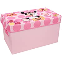 Minnie Mouse Collapsible Kids Toy Storage Chest by Disney - Flip-Top Toy Organizer Bin for Closets, Kids Bedroom, Boys & Girls Toys - Foldable Toy Basket Organizer with Strong Handles & Design