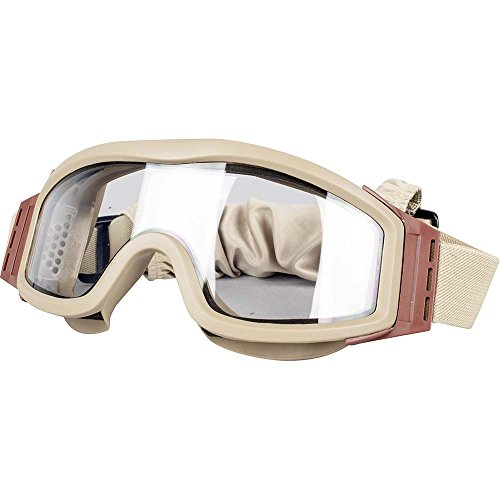 Valken Airsoft Tango Thermal Lens Goggles, with 3 Lenses, Tan Frame