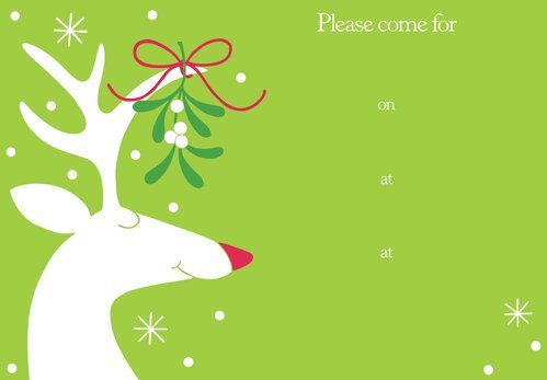 Amazon.com: Christmas Invitations 16 Party Invitations Mistletoe ...