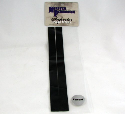 Monster Percussion Superior Snare Straps - Midnight (black) snare drum straps