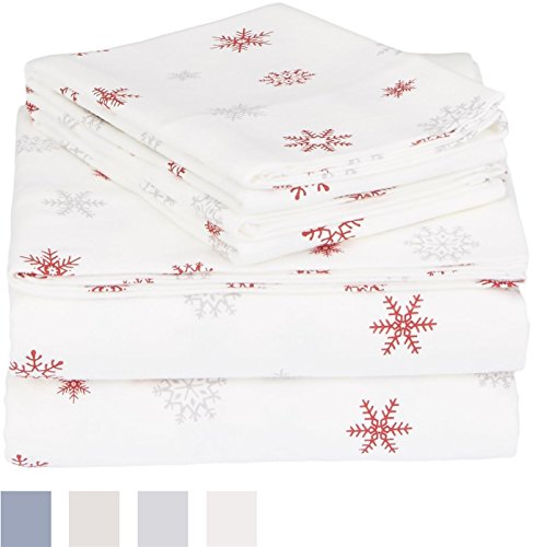 170 GSM Holiday Printed Flannel Sheet Set -  - sheet-sets, bedroom-sheets-comforters, bedroom - 41RxO1jwb9L -
