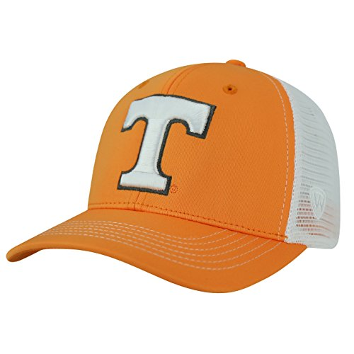 Top of the World NCAA-Ranger Trucker Mesh-Adjustable Snapback Hat Cap-Tennessee Volunteers-White -