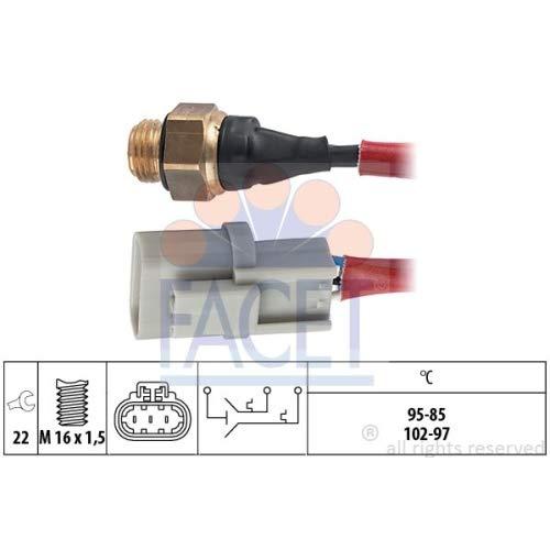 Facet 7.5665 Interrupteur de tempé rature, ventilateur de radiateur