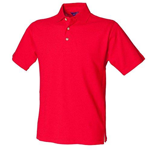 Henbury Classic Heavy Piqué Poloshirt H100Classic rot groß