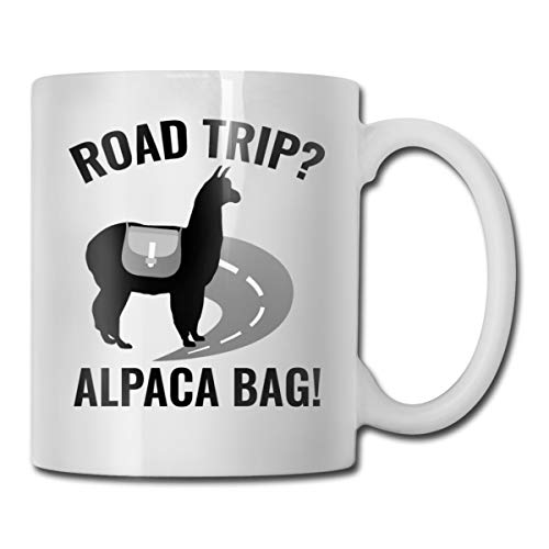 FOECBIR Road Trip Alpaca Bag Custom Coffee Mugs 11Oz Unisex Novelty Birthday Gifts Ceramic Tea Cup -