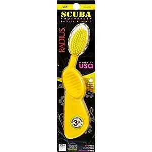 Radius Scuba Right Hand Toothbrush Soft Bristles - 1 Toothbrush - Case of 6