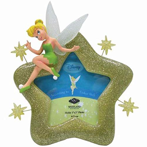 Westland Giftware Disney Tinker Bell Pixie Star Photo Frame, 3 by 3-Inch ()