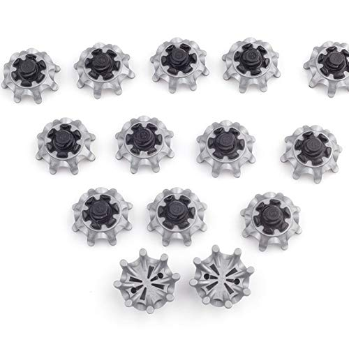 Kacuki 18 Pieces Golf Shoe Spikes Small Metal Thread Spikes Fit Golf Sports ()