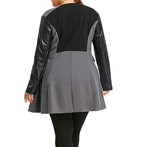 LISTHA Leather Jacket Coat Plus Size Women Winter Woolen Long Overcoat Outwear