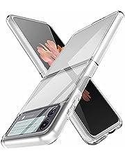 TingYR Hoesje voor Samsung Galaxy Z Flip 3 5G, kristalhelder hard PC anti-kras beschermhoes, beschermhoes voor Samsung Galaxy Z Flip 3 5G (Transparant)