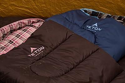 TETON Sports Celsius Junior for Kids -7C/+20F Sleeping Bag; Free Stuff Sack Included
