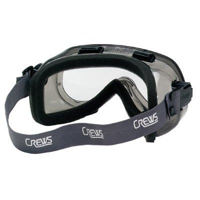 Nf Goggle (MCR Safety 2410NF Verdict Adjustable Polyvinyl Chloride Strap Foam Lining Safety Goggle with Smoke Frame and Clear Anti-Fog Lens, 1-Pair)