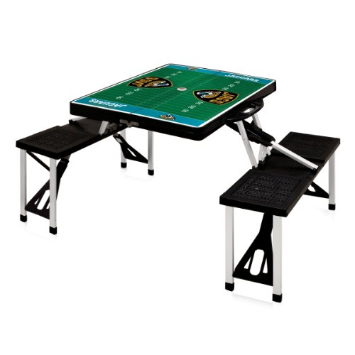 Jacksonville Table Jaguars - NFL Jacksonville Jaguars Football Field Design Portable Folding Table/Seats, Black