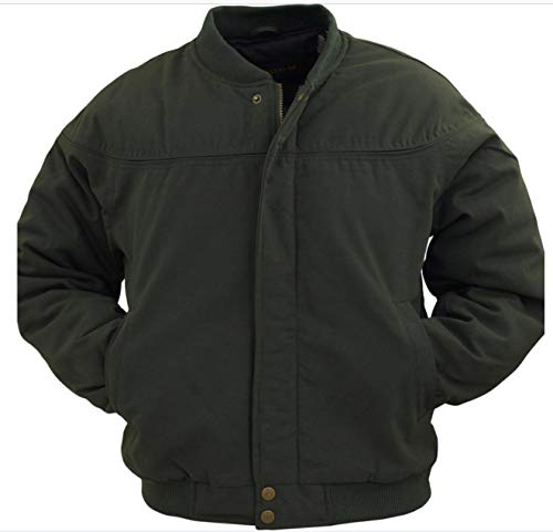 Men's Padded Poplin Shell Nylon Lined La Paz (Derby Style) Bomber Jacket (Black, 3X-Large) - Mens Poplin Jacket