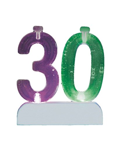 Flashing Number Topper Birthday Candle