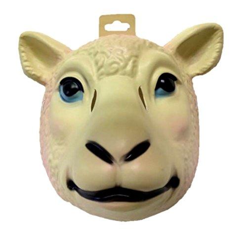 Sexy Lamb Costumes (Sheep Plastic Half Mask Animal Xmas Manger Halloween Costume Accessory Prop Lamb)
