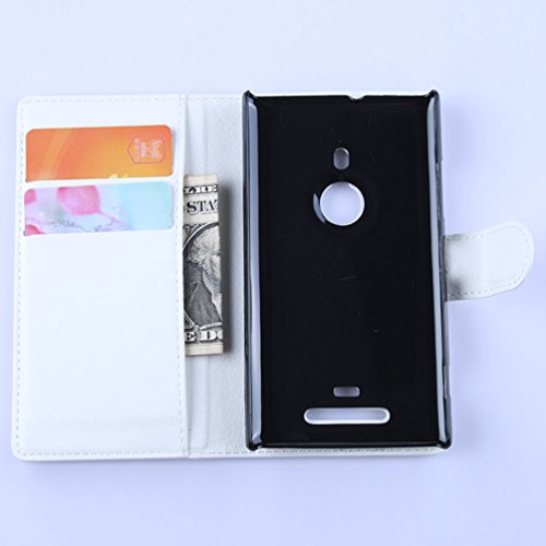 Funda Nokia lumia 925,Manyip Caja del teléfono del cuero,Protector de Pantalla de Slim Case Estilo Billetera con Ranuras para Tarjetas, Soporte Plegable, Cierre Magnético(JFC7-16) D