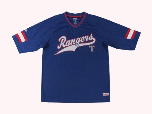 MLB Texas Rangers Boy's V-Neck Raglan Top, Royal, X-Large (Texas Rangers V Neck)