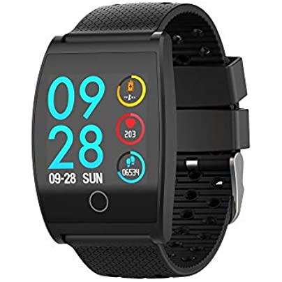 GoYisi Smart Wristbands QS05 1 3 inch IPS Color Screen Smart Bracelet IP67 Waterproof Support Call Reminder Heart Rate Monitoring Blood Pressure Monitoring Sleep Monitoring Black Estimated Price -