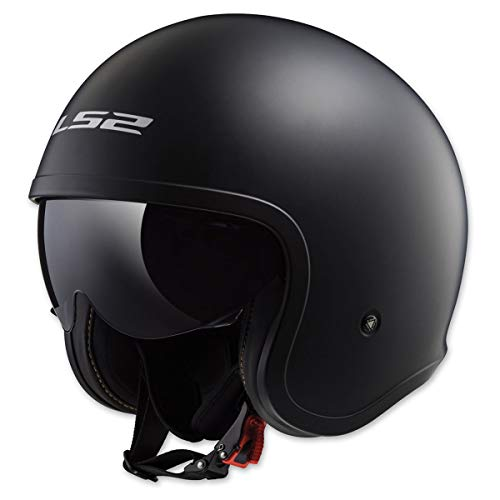 LS2 Helmets Unisex-Adult Solid Spitfire Helmets (Matte Black, XX-Large)