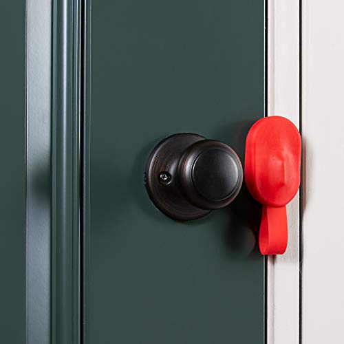 Travel Portable Door Lock Device for Home Security and Personal Protection (Red)