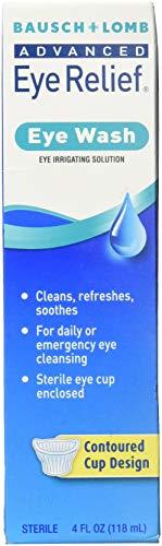 B&L Eye Wash Size 4z Bausch & Lomb Advanced Eye Relief, Eye Wash Eye Irrigating Solution