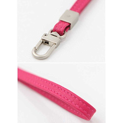 Leather Hand Wrist Strap Lanyard for Cell Phone Camera ipod mp3 mp4 USB Flash Drive ID Badge holder Key (Pink) by jnjstella (Image #2)