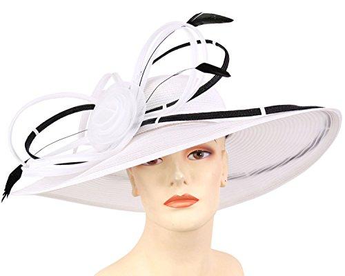 Ms. Divine Wide Brim Women's Kentucky Derby Church Hats Dress Formal Wedding Sun Hats #8412