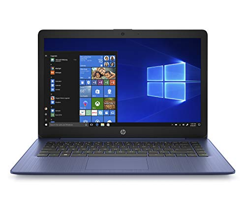 "HP Stream 14"" HD(1366x768) Display, Intel Celeron N4000 Dual-Core Processor, 4GB RAM, 32GB eMMC, HDMI, WiFi, Webcam, Bluetooth, Win10 S, Royal Blue, 14-cb161wm (Renewed)"