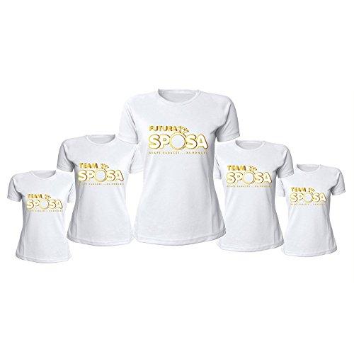 Sposa Anello Bianco Grafica Con Marca Pacchetto Magliette Donna Al Team Addii T shirt Per Personalizzate Da Altra Oro Nubilato B1a4TfqwT