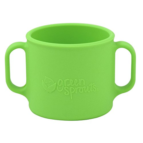 green sprouts Learning Cup made from Silicone, Green