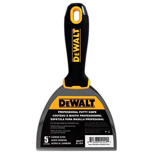 (DEWALT 5-Inch Putty Knife | Carbon Steel w/Soft Grip)