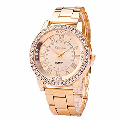 Hotsale! Wensltd Women's Crystal Bracelet Stainless Steel Analog Quartz Wrist Watch
