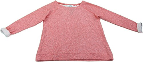 Ellen Tracy Company Ladies XXL Embellished Soft Roll Sleeve Sweatshirt Coral