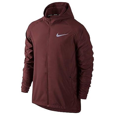 137b44f584 Nike – M NK Essential Jacket HD Corsa della Pioggia Giacca, Team Rosso  Scuro,