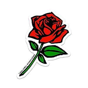 Amazon Com Red Rose Car Bumper Sticker Window Decal 5 Quot X