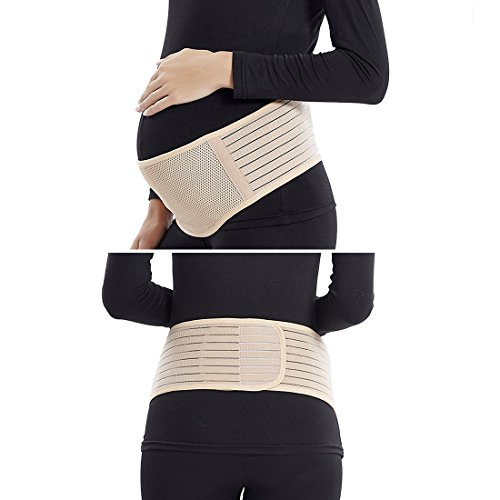 Maternity Belt,Belly Band for Pregnancy,Back and Pelvic Support,Top 10 Gifts for Women/Mom,Prenatal Cradle for Baby-Nude by Blomed