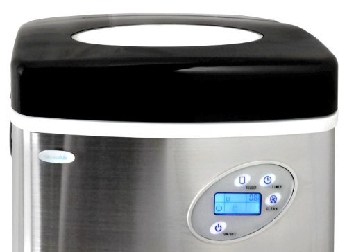 Newair AI-215SS Stainless Steel Portable Ice Maker with 50 Lbs. Daily Capacity