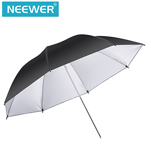 Neewer 36''/91cm Photo Studio Black/Silver Reflective Lighting Umbrella for Photography Studio Flash Light and Location Shoots by Neewer