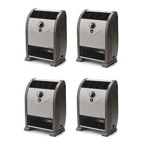Lasko 1500W Portable Automatic Heat Regulator Floor Air Flow Heater (4 Pack)
