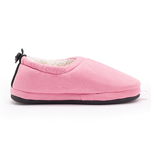 on KW028 Lined Fleece Pull Valentine's Shoes Cotton Women House Kenroll Day Mens Slippers Pink Women qqpvwU