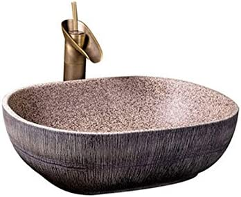 カウンター盆地洗面オーバルセラミック盆地アメリカの洗面アートヨーロッパの盆地上記 P4/16 (Size : B)