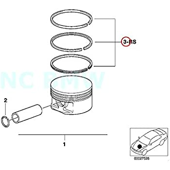 Amazon Com Bmw Genuine Repair Kit Piston Rings Automotive