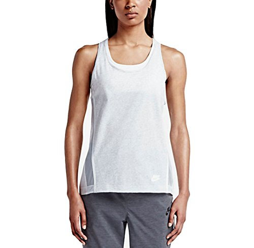 Nike Women's Bonded Tank Top, Birch Heather Black, MD