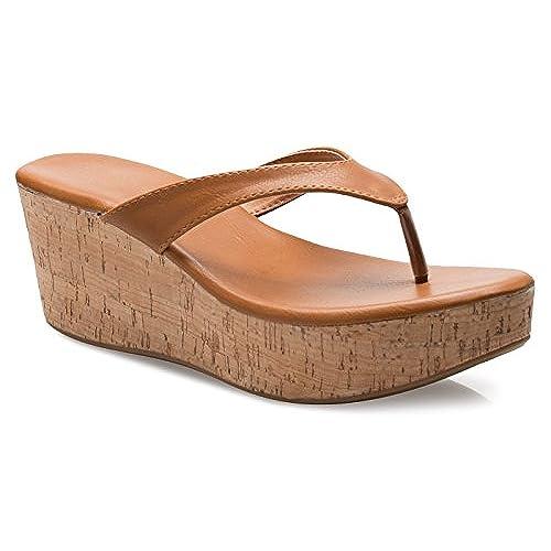 9ec82c16a74d 70%OFF OLIVIA K Women s Flip Flops Platform Thong Sandals Fashion Colors  Wedge Heel Shoes